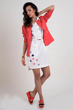 Linen female coral jacket