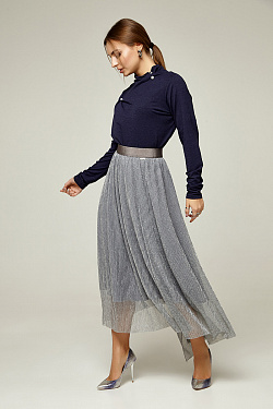 The skirt is a long corrugation with elastic gray