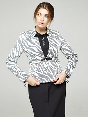 Jacket with basky animal print, code 2303